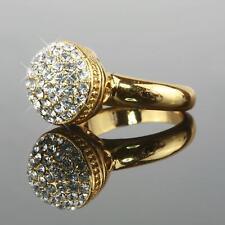 Shamballa Ring Zirkonia Echt 750 Gold 18K vergoldet Gr. 16,5; 16; 17; 17,5 R1168