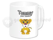 Personalised Ceramic Mug- Tiger Cub Design- Any Name