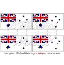 AUSTRALIE MARINE Drapeau 50mm Vinyle Stickers Autocollants x4