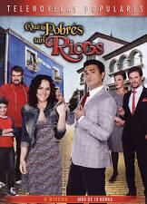 QUE POBRES TAN RICOS New Sealed 4 DVD Telenovela The Poor Rich Family