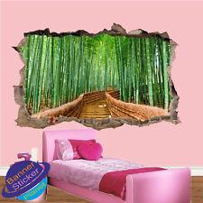 Bosque de bambú caminar Pegatinas de Pared Arte Calcomanía Decoración para Oficina Sala De Cartel murales VO3