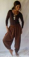brown pants harem wide leg hippy boho M L XL 1X 2X 3X 4X 5X 6X PLUS SIZE