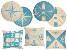 Dekokissen Maritim rund blau 35x35   Motiv Kissen Meer Deko Einrichtung