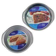 PME Non Stick Round Circle Cake Sponge Oven Baking Tin Pan Tray with Handles