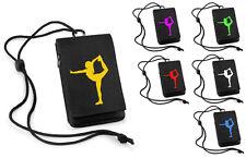 Handytasche schwarz Cheerleader iPod Tasche iPhone Brustbeutel Cheerleading
