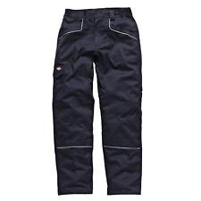 DICKIES industria 260 Elástico Pantalones Azul Marino Trabajo Pantalones IN1001