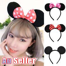 Unisex Party Decoration MICKEY Fancy Dress Costume Bow Minnie Mouse Ear Headband