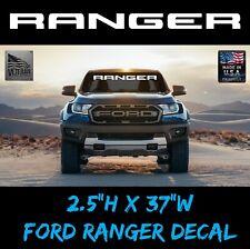 "1 Ranger Front Windshield Banner Decal USDM Ford Ranger Trucks 2.5x37"" patriotic"