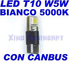 CANBUS SMD LED BIANCO 5000K T10 W5W NO ERRORE SPIE obd