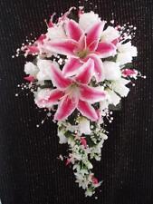Wedding 23 pc bridal bouquet stargazer lily white ivory