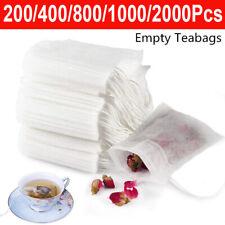 2000Pcs Empty Tea Bags with String Heal Seal Filter Paper Herb Loose Tea Bags UK