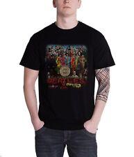 The Beatles Sgt Pepper Official Mens New Black T Shirt
