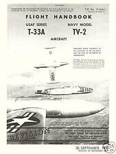 LOCKHEED T-33A & TV-2 FLIGHT HANDBOOK T.O. No. 1T-33A-1