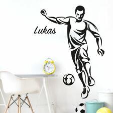 Wandtattoo Wandaufkleber Wandsticker Kinderzimmer Fußball Ball Wunschname W5485