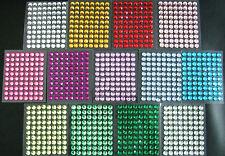 selbstklebende Schmucksteine/ Glitzersteine rund 8 mm verschiedene Farben