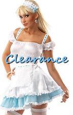 White & Blue Bo Peep Shepherd Fairy Tail Fancy Dress Hens Night Costume S-L AU