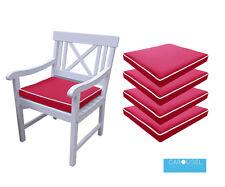 MEMORY Foam Cuscino Da Giardino Sedia Imbottitura del sedile | quantità di 1,2,3,4,5, & 6 | 50x45 | rosso