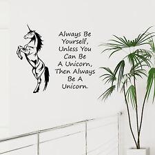 Unicornio de arte de pared calcomanía siempre ser tú mismo a menos que usted puede ser un unicornio calcomanía