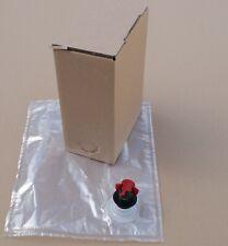Bag in Box Saftkarton Karton inkl. Beutel 3 Liter 20 50 oder 100 Stück Set