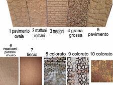 1 pannello sughero 33x25 cm 1cm di qualita mattoni liscio muro per presepe crib