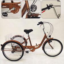 "24""Adult Dreiräder 6 Gang 3 Rad Bike Cruise Trike für Männer/Frauen/Ältere/Junge"