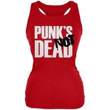 Punk's NOT Dead V4 Red Juniors Soft Tank Top