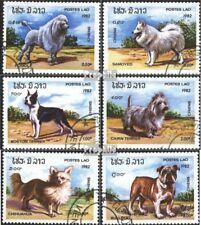 Laos 573-578 (kompl.Ausgabe) gestempelt 1982 Hunde EUR 2
