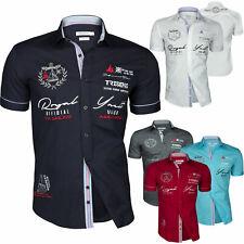 Herren Kurzarm Hemd Trisens Cotton Partyhemd Polo Shirt