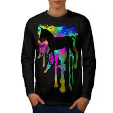 UNICORNO Fantasy Art Uomini Manica Lunga T-shirt Nuove | wellcoda