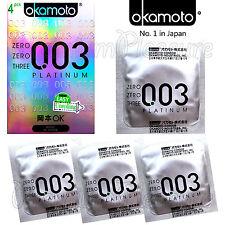 Okamoto 003 PLATINUM condoms *0.03 thickness *Super Ultra Thin* Retail box of 4