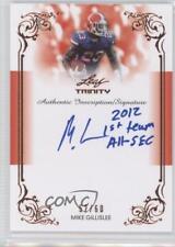 2013 Leaf Trinity Inscription Autographs #DI-MG1 Mike Gillislee Auto Rookie Card