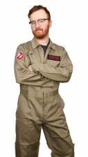 Ghostbusters Costume Overalls - premium deluxe uniform - khaki beige coveralls