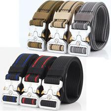 """1.5"""" Mens Heavy Duty Belt Quick Release Metal Buckle Nylon Webbing Trousers Belt"""