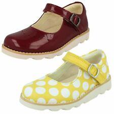 Girls Clarks Hook & Loop Shoes Crown Jump