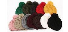 New Fashion Women Warm Winter Beanie Ball of Yarn Crochet Hat 8 Colors