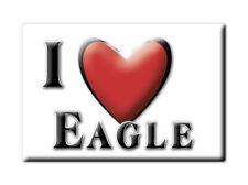 SOUVENIR UK - ENGLAND FRIDGE MAGNET UNITED KINGDOM I LOVE EAGLE (LINCOLNSHIRE)