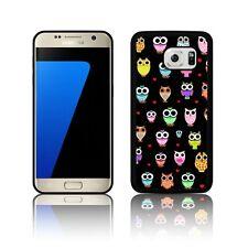 'CARINA Gufi' Custodia in silicone per Samsung Galaxy s5 s6 s7 Copertura in Gomma Nero