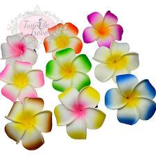 Grand PLUMERIA Frangipanier clips cheveux fleur festival d'été. Hawaïen Vacances
