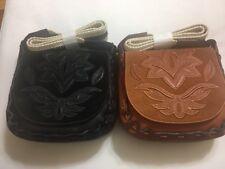 SAM EDELMAN $228 NWT Leather Emma Wide Crochet Strap Crossbody Shoulder