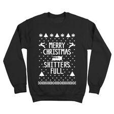 Clearance - Merry Christmas Sh*Tters Full  Black Crewneck Sweatshirt