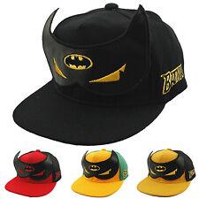 Toddler Kids Boys Girls Batman Baseball Cap Hip Hop Snapback Summer Peaked Hats