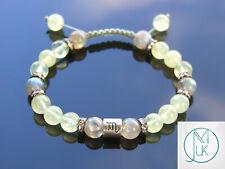Scorpio Labradorite/Prehnite Birthstone Bracelet 6-9'' Macrame Healing Stone