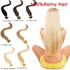100 REMY HAIR EXTENSION 80g capelli umani VERI 100% CHERATINA CIOCCHE 0,8g 53cm