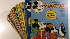 AUSWAHL = Micky Maus Comic Hefte 1980 Nr. 1 - 52 mit / ohne Beilagen