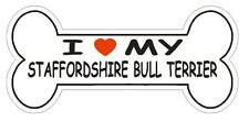 Love My Staffordshire Bull Terrier Bumper Sticker or Helmet Sticker D2557 Decal