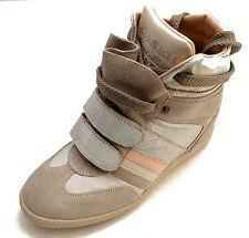 Serafini scarpe sneakers alte pelle shoes Donna Zeppa interna Women 2756 Metal