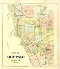 Old City Map - Buffalo New York Landowner - 1866 - 23 x 26.44