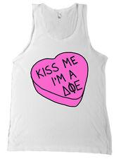 Delta Phi Epsilon Valentine's Day Tank Top Shirt Candy Sweet Heart Kiss Me
