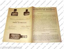 DE GENNARO napoli fabbrica chimica  - catalogo 1925