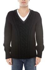Maglia Maglione Armani Jeans AJ Sweater Pullover -50% Uomo Nero N6W43-12 SALDI